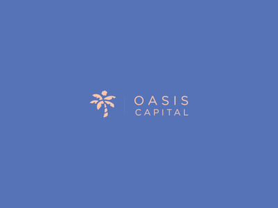Oasis Capital coconut palm tree illustrator ai minimalism vector logo