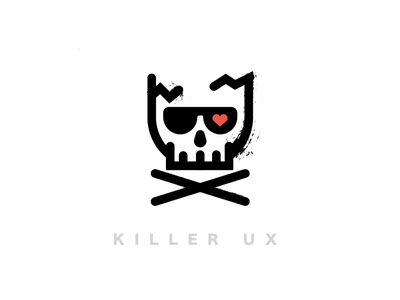 Killer UX heart ux skull killer