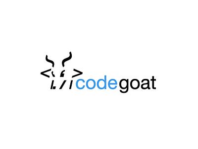 Code Goat helvetica ascii minimal flat logo goat code