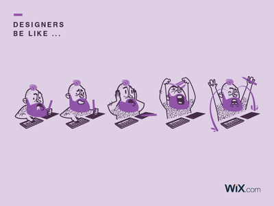 Designers be like ... mind designers wix