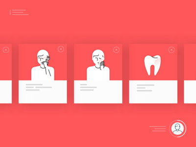 Medical App app minimalism medical person pain tooth toothache