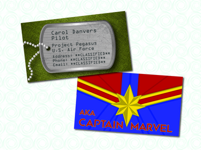 Super Hero Business Card