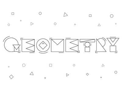 Geometry Letterforms