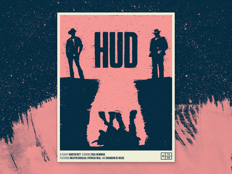 Hud - Texas Forever Project tungsten texture illustraiton poster