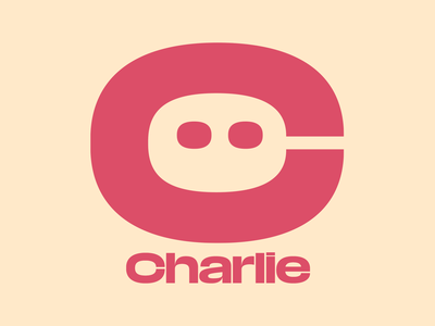 C Logo pink beige typography logo media sans