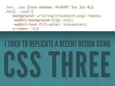 Background-Clip css3 webkit typography css