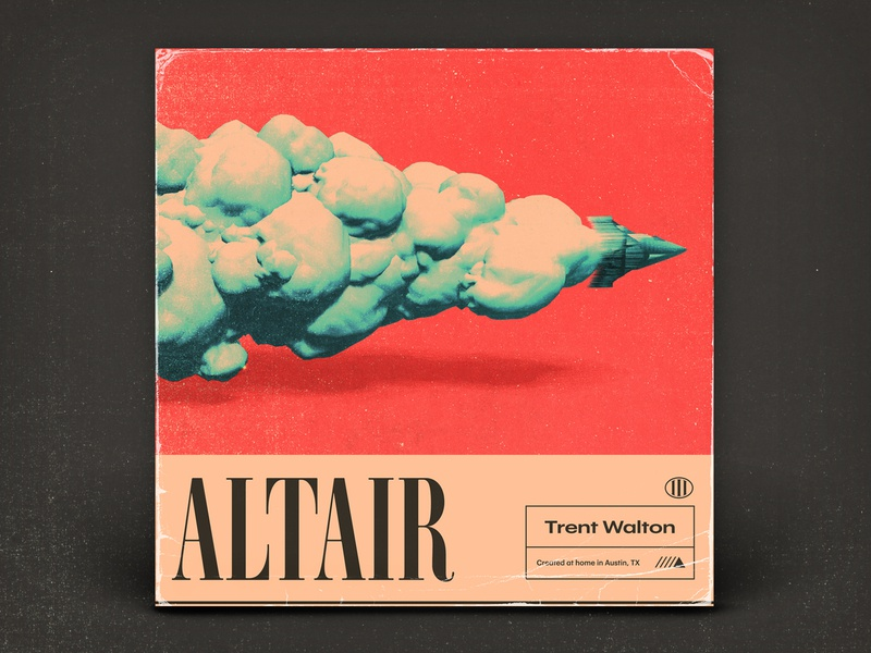 Altair texture typography 3d art illustration album art music