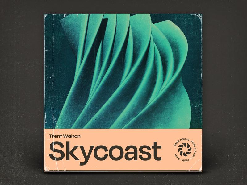 Skycoast texture 3d illustration typography music album art