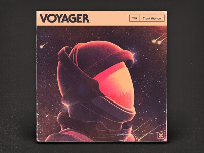 Voyager album cover album art music typography illustration 3d texture