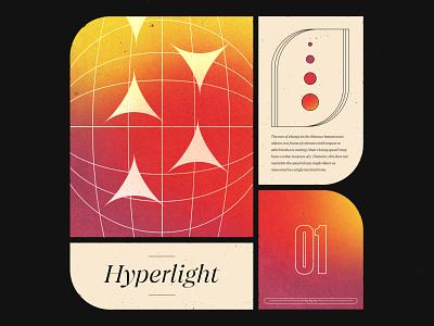 Hyperlight noise illustration typography gradient texture