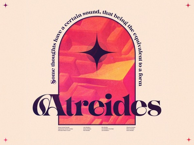 Atreides icon illustration dune poster typography texture