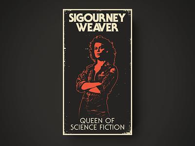 Sigourney VHS the many faces of illustration web design