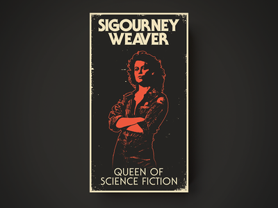 Sigourney VHS the many faces of illustration web design
