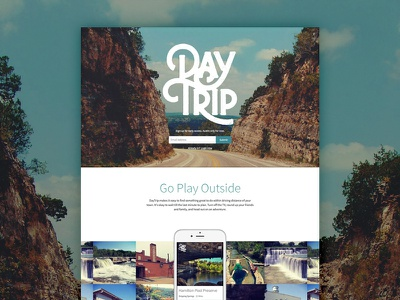 DayTrip Homepage source sans paravel daytrip homepage
