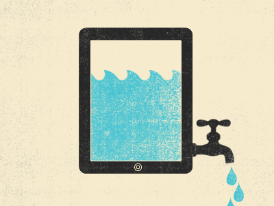 Fluid beige grey blue illustration