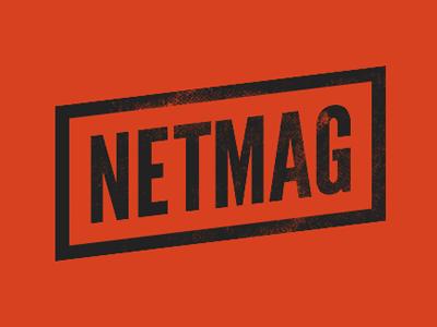 Netmag orange black web type league gothic css css3 mask-image transforms fittext