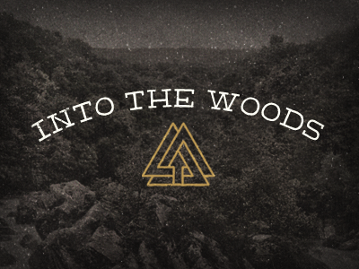Into The Woods hand slab fittext lettering.js blog