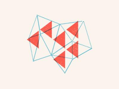 Collaboration red white blue beige illustration blog