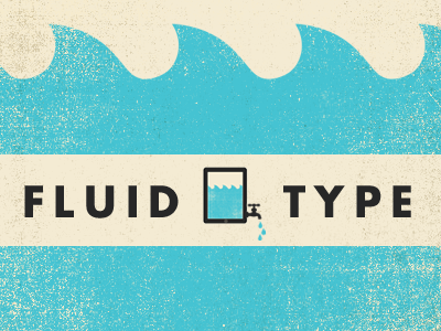 Fluid Type blue beige futura illustration texture blog