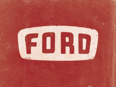 Ford ford red texture hand-lettering illustration car badges