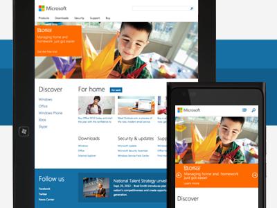 Responsive Microsoft Homepage responsive microsoft paravel