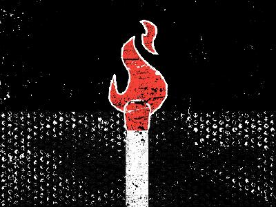 Matched illustration scans red black white texture blog