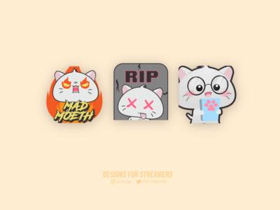 Cute Cat Emote designs for streamers