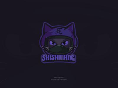 Astronaut Cat Ninja Gamer Mascot Logo mascotlogo esportslogo esports design streamer branding twitch vector illustration 2d