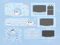 Cute Twitch Stream Package Design Summer Vibe Belly the Penguin twitchemotes streamer twitch 2d illustration cute twitch packages cute twitch overlay cute character designs cute branding for streamers professional stream designs streamer starter pack best designs for streamers cute stream designs stream packages twitch overlay cute twitch designs