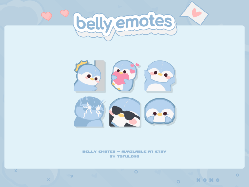 Pastel Blue Cute Twitch Emotes Designs Belly Streamer Package design 2d cutepasteldesigns pastelblueemotes penguinemotes overcookedemotes cuteanimalemotes cutetwitchcartoon professionalemotesdesigns cutestreampackages cutetwitchstreamer cutetwitchoverlays cutetwitchdesigns discordemotes twitchemote twitchemotes twitch animalcrossingemotes