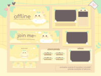 Dudu the Traveler Duck Cute Twitch Design Overlay Stream Package twitch gamer cute twitch overlays animalcrossingnewhorizon twitch streamer illustration twitch pastel twitch designs lofi twitch design kawaii twitch designs gamer girl designs esports twitch designs gamer twitch design friends stream package pudding twitch overlays soft pudding designs popular stream packages cute twitch design