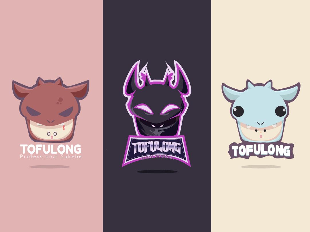 TofuLong Mascot Logos mascot logo mascotlogo 2d character vector minimal 2d logo illustration branding