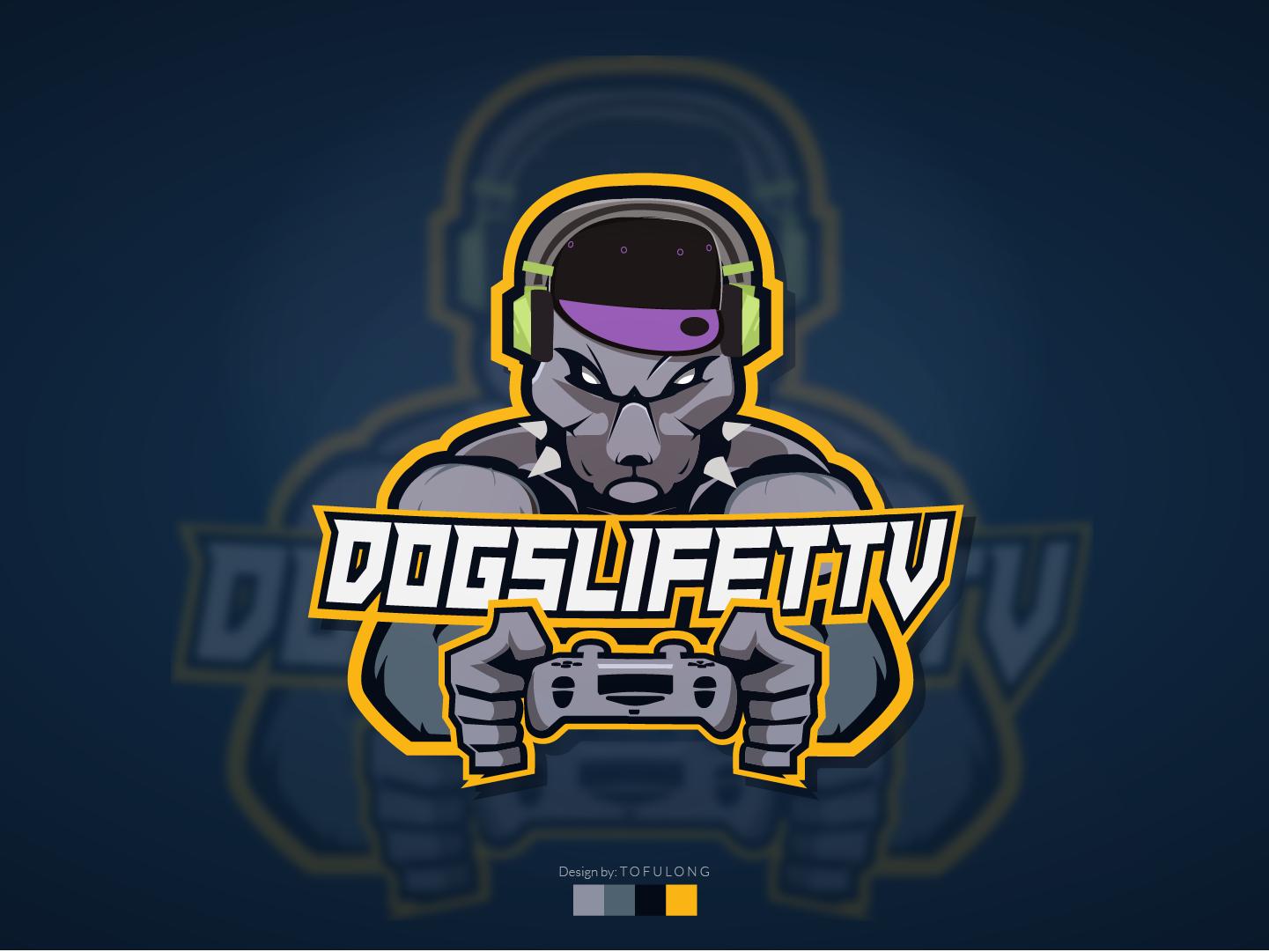 Dog man/Minotaur Style Mascot Logo Twitch/Esports 2d vector gaminglogo illustration mascotlogo dog logo psgang controller dogman progamer esportslogo twitchlogo twitch esports razer playstation4 doggy minotaur dog