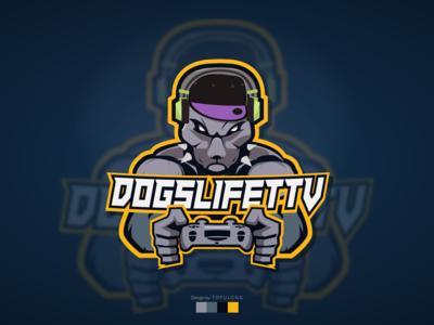 Dog man/Minotaur Style Mascot Logo Twitch/Esports