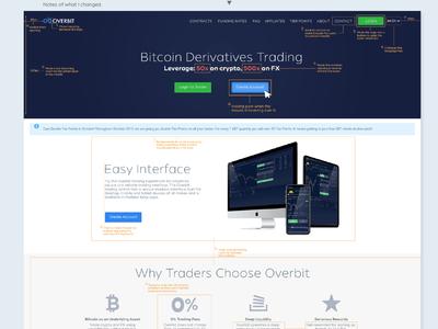 Overbit Website slight adjustment