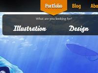 Website nav dropdown