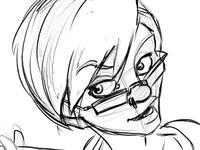 Rough comic sketch