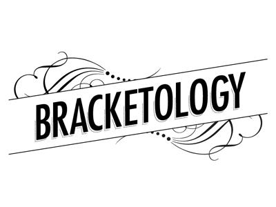 Bracketology Logo logo bracketology bw black and white