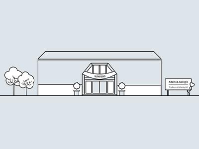 Wedding Invite - Our Venue illustration linework lineart invitation wedding