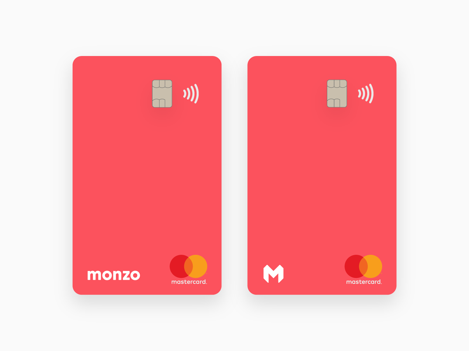 Monzo Vertical Debit Card vertical card monzo hot coral challenger bank debit card mobile bank bank card bank app