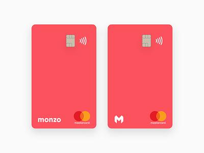 Monzo Vertical Debit Card vertical card monzo hot coral challenger bank debit card mobile bank bank card bank app
