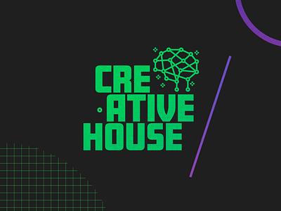 Creative House brain thinking green logo branding design logo house creative