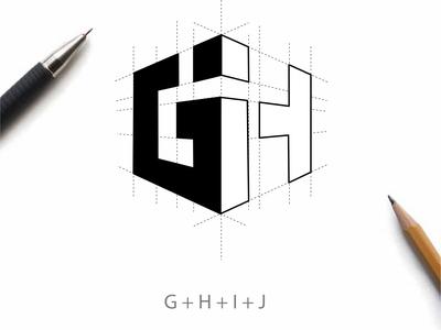 GHIJ logo concept