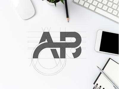AB monogram ux web app branding ilustrasi vektor desain merek logo