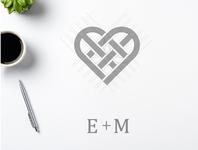 letter E + letter M monogram