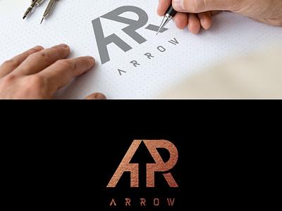 AR logo concept icon branding design ilustrasi ikon vektor desain merek logo