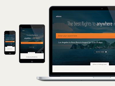 Adioso is now responsive responsive retina travel adioso mobile