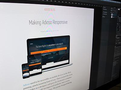 Responsifying Adioso blog responsive learn tutorial