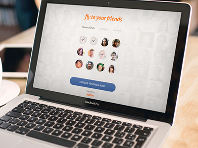 Fly to your friends flights landing animation facebook choose responsive oath