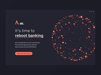 Alt Bank is live! animations graphik ferocia landing website rebootbanking altbank neobank digitalbank alt banking fintech